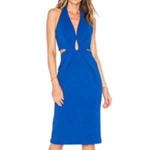 Cobalt Blue Halter Dress